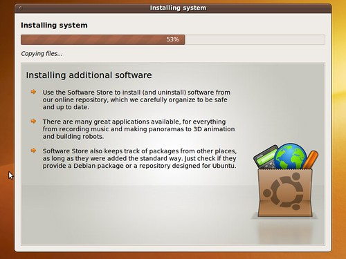 Ubuntus new informative installer