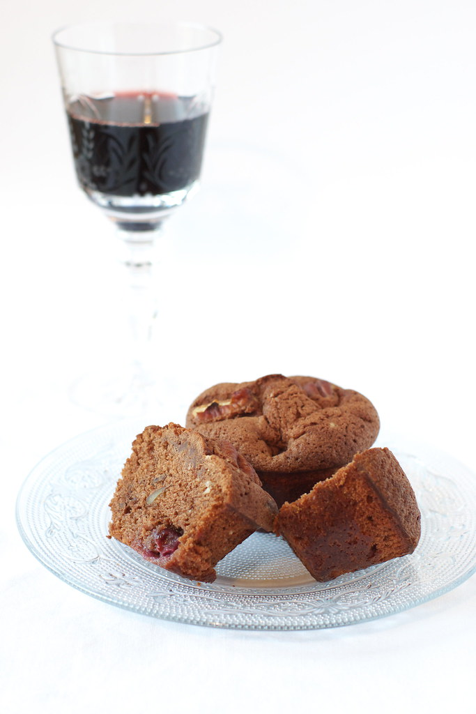 Cake chocolat porto raisins