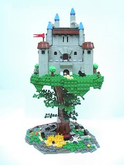 The Castle in the Canopy (SlyOwl) Tags: tree castle lego yew yggdrasil