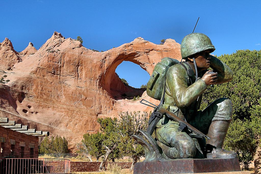 Navajo Veteran's Memorial - Code Talker Statue