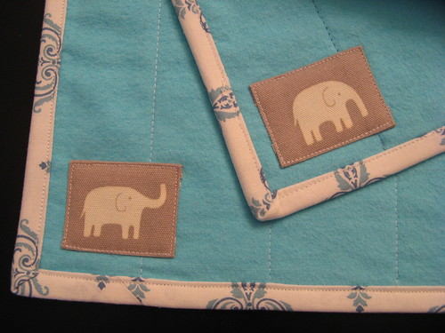 elephant turquoise burp cloths