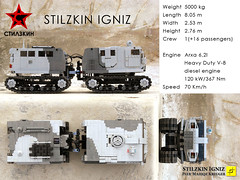 igniz05 (mahjqa) Tags: gun power control lego military transport tracks technic vehicle remote functions armour rc tracked moc armoured studless bandvagn powerfunctions ltec