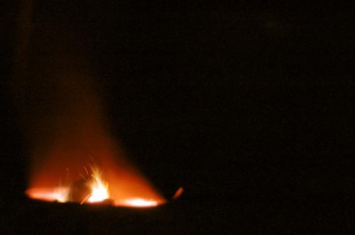 . . . a campfire. . .