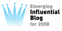 Winner: Top 10 Emerging Influential Blogs for 2008