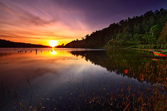 Beratan Sunrise (tropicaLiving - Jessy Eykendorp) Tags: light bali lake reflection tree green nature water clouds sunrise indonesia landscape explore frontpage efs1022mm bedugul ulundanu outdoorphotography candikuning canoneos50d tropicaliving hitechfilters rawproccessedwithdigitalphotopro tiffproccessedwithadobephotoshopcs3 beratansunrise guaaaauuuu