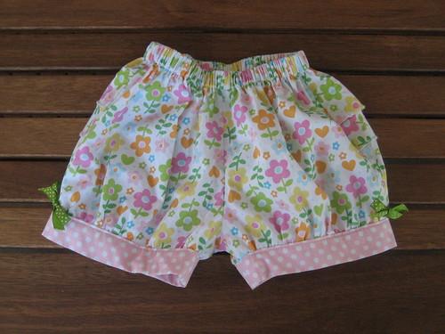ruffle shorts front