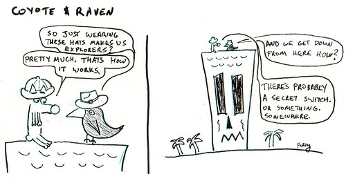 366 Cartoons - 288 - Coyote and Raven