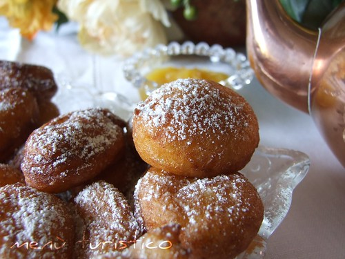Lemon-Ricotta Fritters with Lemon Curd (Martha Stewart)