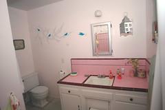 Pink Bathroom Wall  Graphics (aliciadesign) Tags: pink bathroom cherryblossom