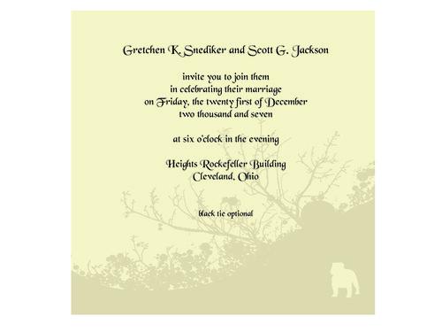 Scott & Gretchen Jackson Wedding Invite
