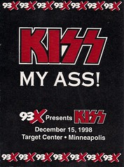 12/15/98 Kiss/Econoline Crush @ Minneapolis, MN (93XFM Promo Sticker)