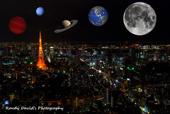 An out of this world view ( Explored ) (searcher101 ( charging up )) Tags: moon tower japan composite tokyo long exposure nightshot earth cityscapes full scifi planets saturn neptune abigfave gliese