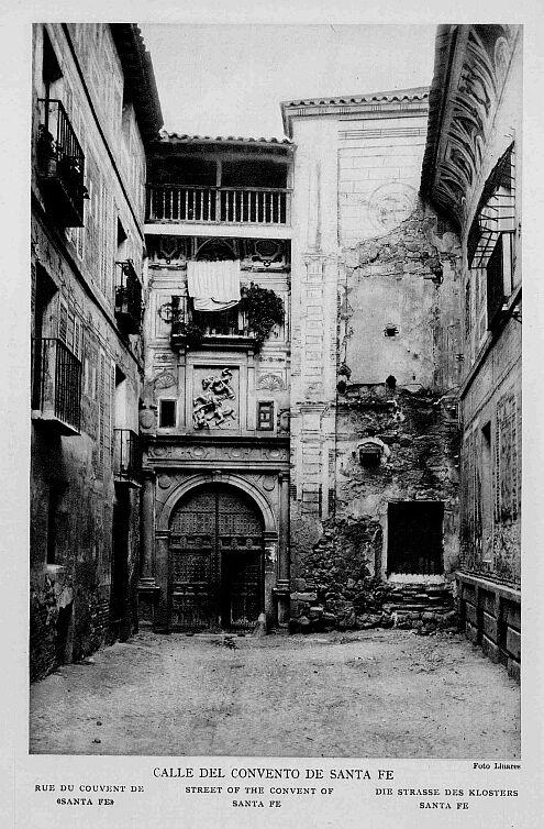 Convento de Santa Fe a inicios del siglo XX. Foto Linares