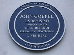 Photo of John Goepel blue plaque