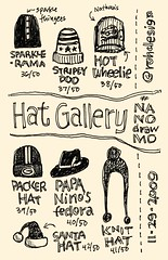 NaNoDrawMo 2009 - 36-42/50 - Hat Gallery