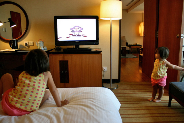 The adjoining rooms were fantastic for the family