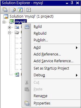 MySQL Connector Add Reference