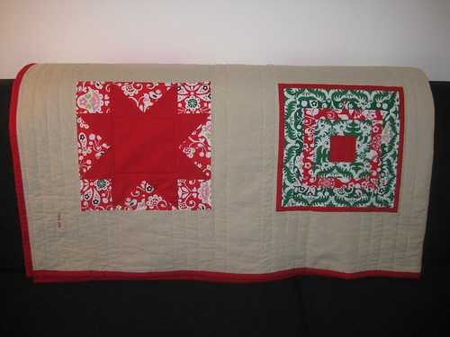 funky christmas quilt star square