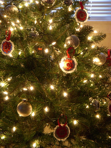 Handmade Ornaments on the Tree