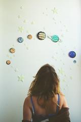 makenothinghappen (yyellowbird) Tags: selfportrait girl stars space galaxy planets cari
