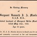 Mourning card Kenneth Manley