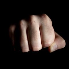Knuckle Sandwich (beanser ) Tags: light shadow square hand fingers fist thumb bodyparts onblack hairyfingers knucklesandwich strobist canon35mmf20 themechallenge canon450d canondigitalrebelxsi rasterman74 beanser canonspeedlight430exii