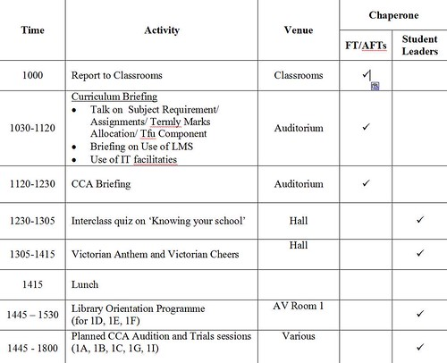 thu timetable