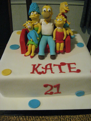 Simpsons 21st Cake
