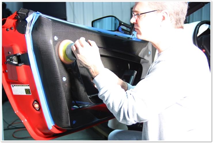 Ferrari F430 Scuderia carbon fiber polishing