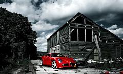 Alfa Romeo 8C Competizione, Pure beauty... (Luuk van Kaathoven) Tags: auto birthday red car photography nikon flickr photoshoot sam anniversary year shed megan automotive explore fox alfa romeo 100 van lingen 8c luuk savali competizione transaxle explored d80 luukvankaathovennl kaathoven
