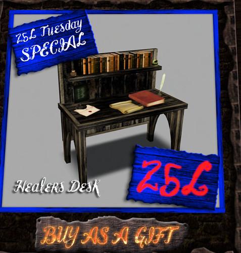 25L Tuesday Torvalds Forge Healers Desk