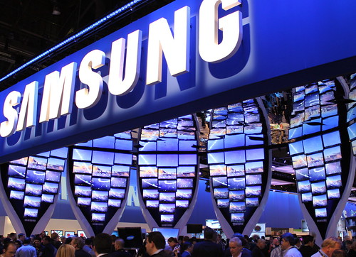 Samsung booth at CES 2010