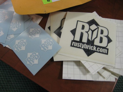 RustyBrick Decals for Laptops & iPhones