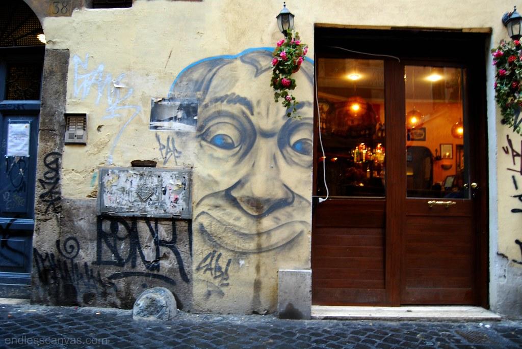 cabe street art graffiti rome italy.