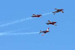 The RAAF Roulette aerobatics team (III) (scott photos) Tags: plane iso200 flying nikon aircraft plan australia melbourne victoria formation pilatus airforce nikkor aerobatic 80200mm f63 200mm roulettes raff pc9 80200mmf28d 80200mmf28 royalaustralianairforce 0001sec 80200mmf28dnew byscottphotos maneouver d300s