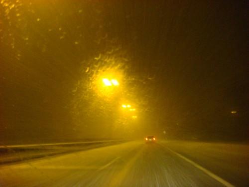Snowstorm over Hasselt, Belgium.