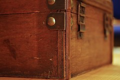35/365 - Show on the Road ( Stormchild) Tags: wood macro bokeh box 365 woodgrain woodenbox project365