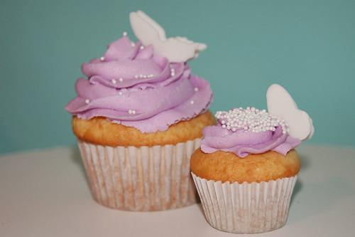 Purple Spring Cupcakes