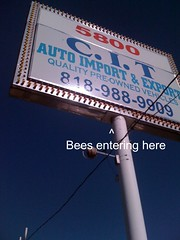 Bee Hive in Sign with annotation