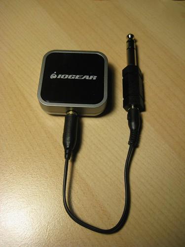 [IOGEAR's GBMA211W6 Bluetooth audio transmitter.]