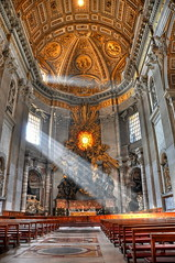 God's beam of light in St. Peter's Basilica - Rome, Italy (HDR) (farbspiel) Tags: italien light italy sun vatican rome church religious photography gold lowlight nikon worship cathedral availablelight basilica religion pray lord beam ita nikkor 18200 rom sunbeam hdr highdynamicrange stpeter stpetersbasilica vatikan rayoflight vaticancity petersdom d90 beamoflight tonemapped tonemapping nikon18200vr nikond90 detailenhancer klausherrmann