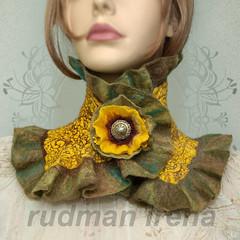 scarflette275b (Rudmanart) Tags: art felted scarf felting scarflette nunofelting