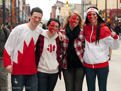 Canadian Fans at the Olympics