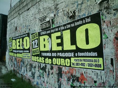 Cantor Belo e Rosas de Ouro desrespeitam lei da Cidade Limpa