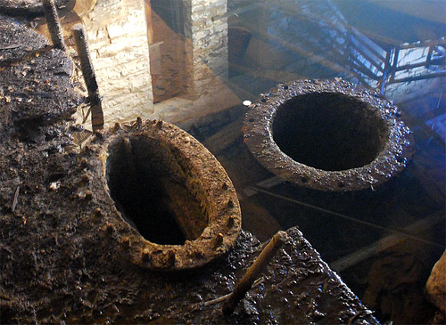 Two Pump House pipes