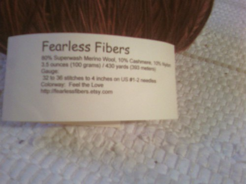 Magic Yarn Ball Swap- Received- 003- Fearless Fibers