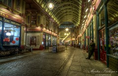 Leadenhall Market (Martin_Finlayson) Tags: street london night lights nikon market arcade gimp tamron hdr afterdark leadenhall d300 photomatix gorillapod 1024mm