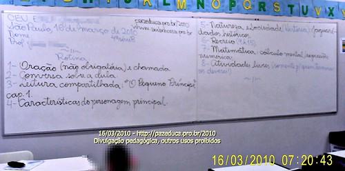 Rotina Prevista - 16/03/2010