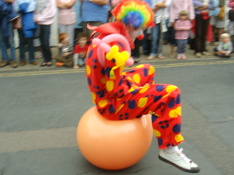Clown on a Spacehopper