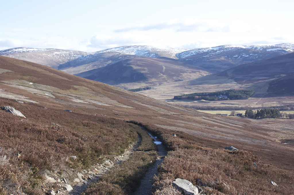 Heading down to Glen Esk